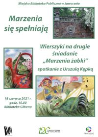 Marzenia żabki. Spotkanie autorskie z Urszulą Kępką dla dzieci